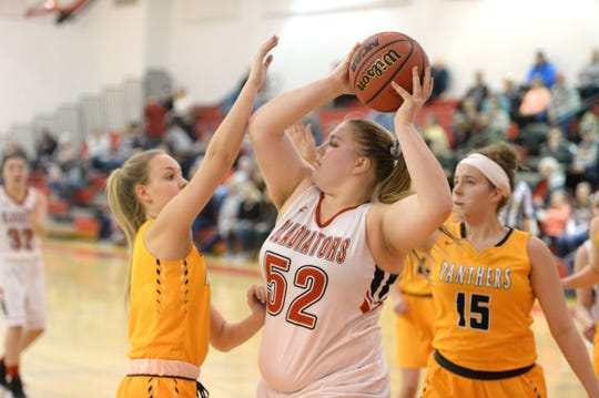 Riverheads' Olivia Modlin has been playing some of her best basketball in the Gladiators' postseason run.