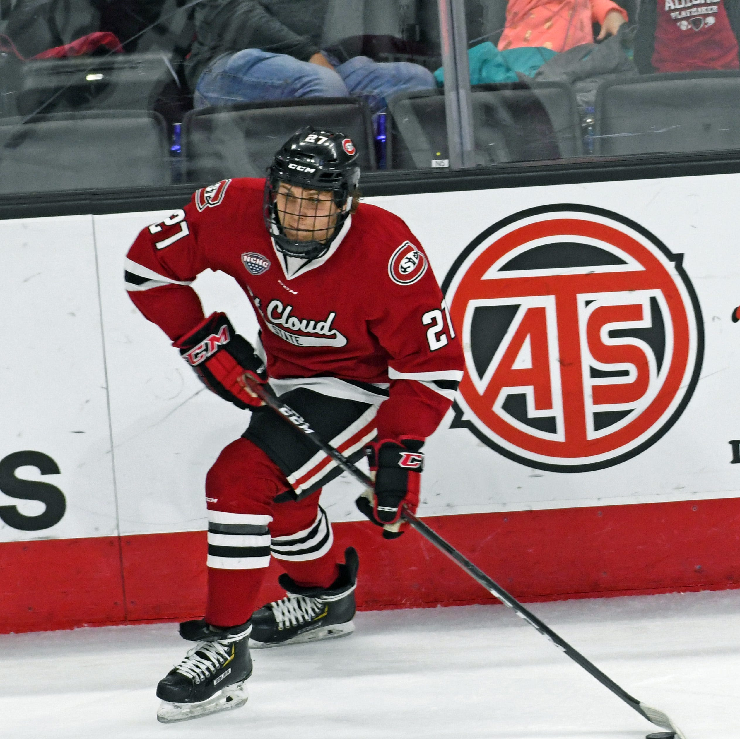 SCSU hockey players Blake Lizotte, Jacob Benson sign NHL deals