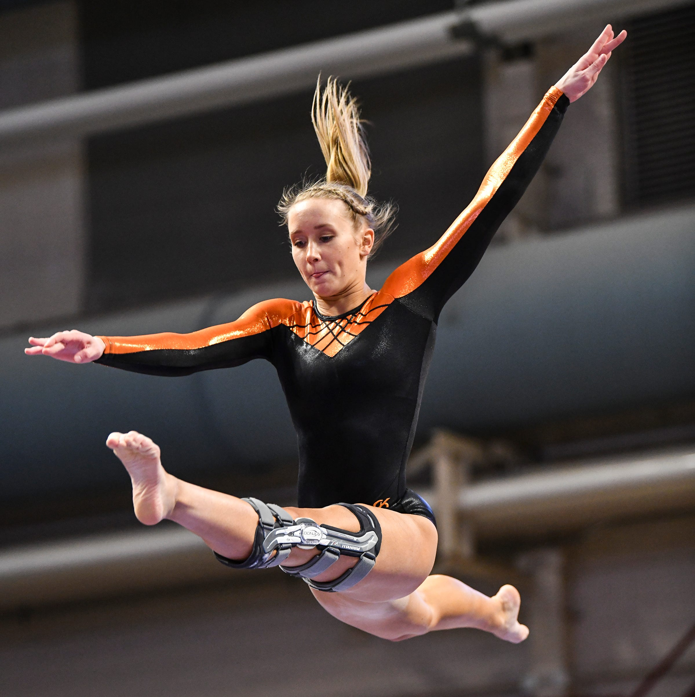 Overcoming fear: Tech gymnast returns to state after injury