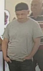 The suspect in Saturday's Seacoast Bank robbery in Fort Pierce, as seen on surveillance video
