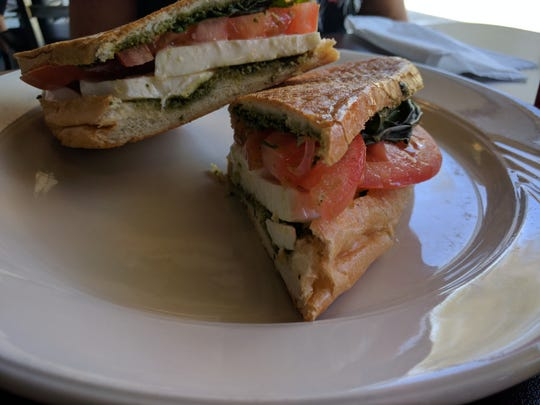 The Corner Café caprese panini is a perfect example of the great pleasure that can be derived from just a few simple ingredients