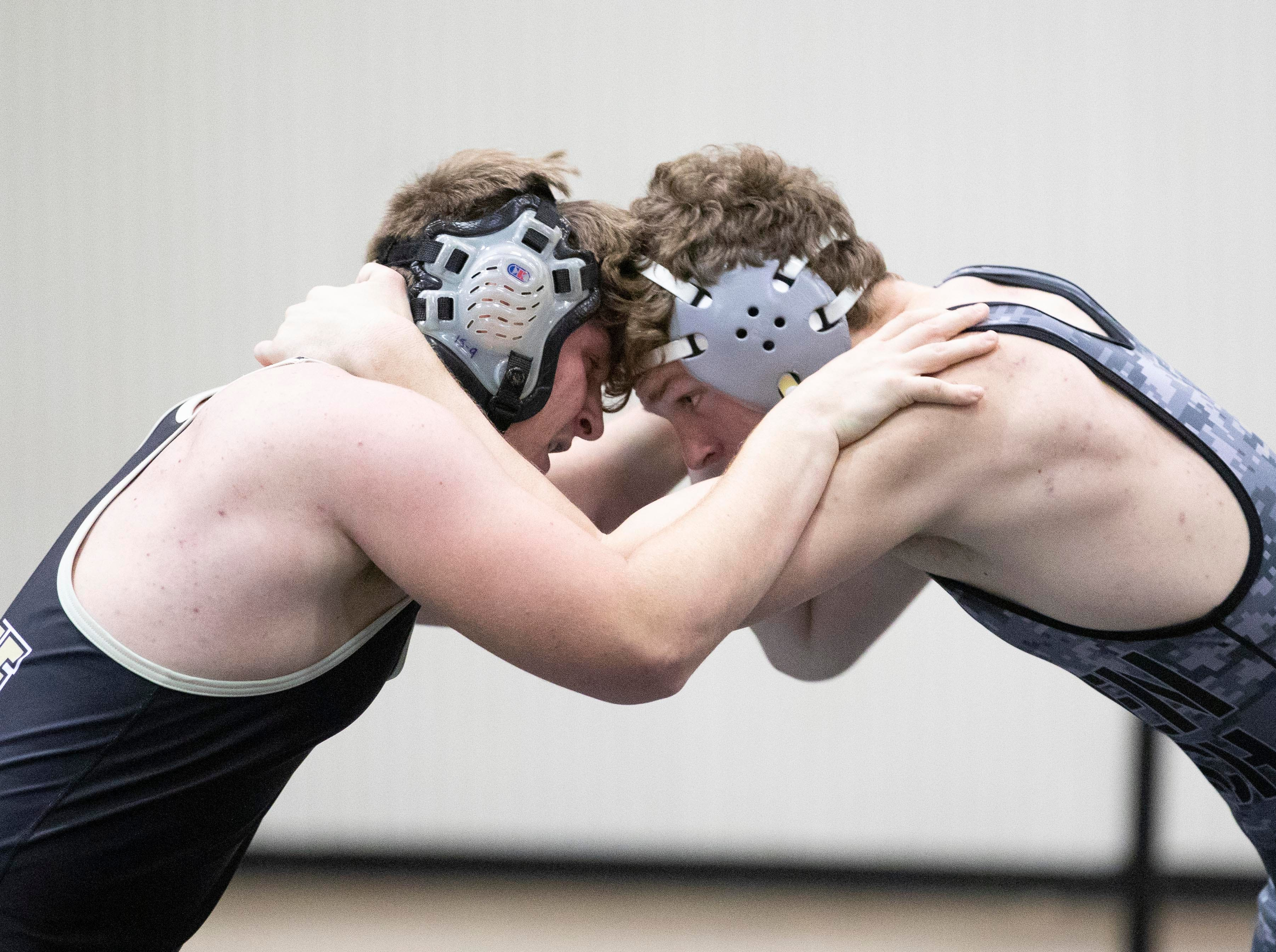 Jensen Beach High School won the District 14-2A wrestling tournament with 249.5 points on Friday, Feb. 22, 2019, in Jensen Beach. Okeechobee High School finished second with 153.5 points.