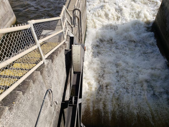 Lake Okeechobee discharges, at a rate of 323 million gallons per day, and expected to last three weeks, began Saturday, Feb. 23 at the St. Lucie Lock and Dam.