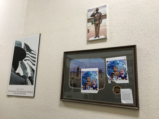 More than 100 stickers were placed throughout the National Border Patrol Museum during the protest.