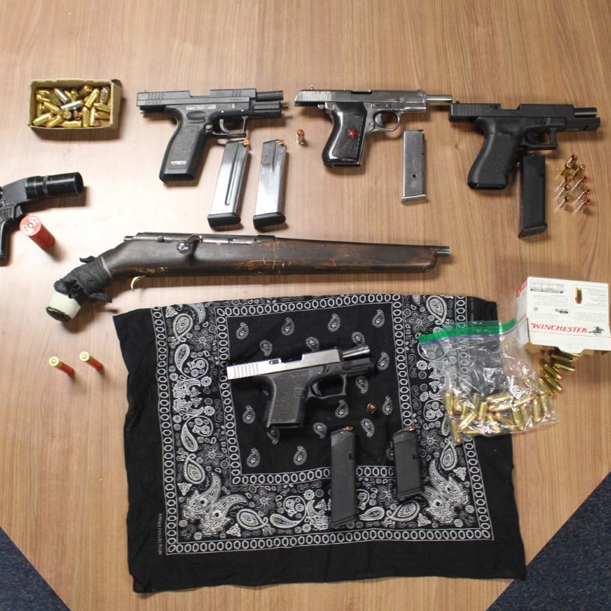 4 arrested, 6 guns recovered in Santa Paula gang bust
