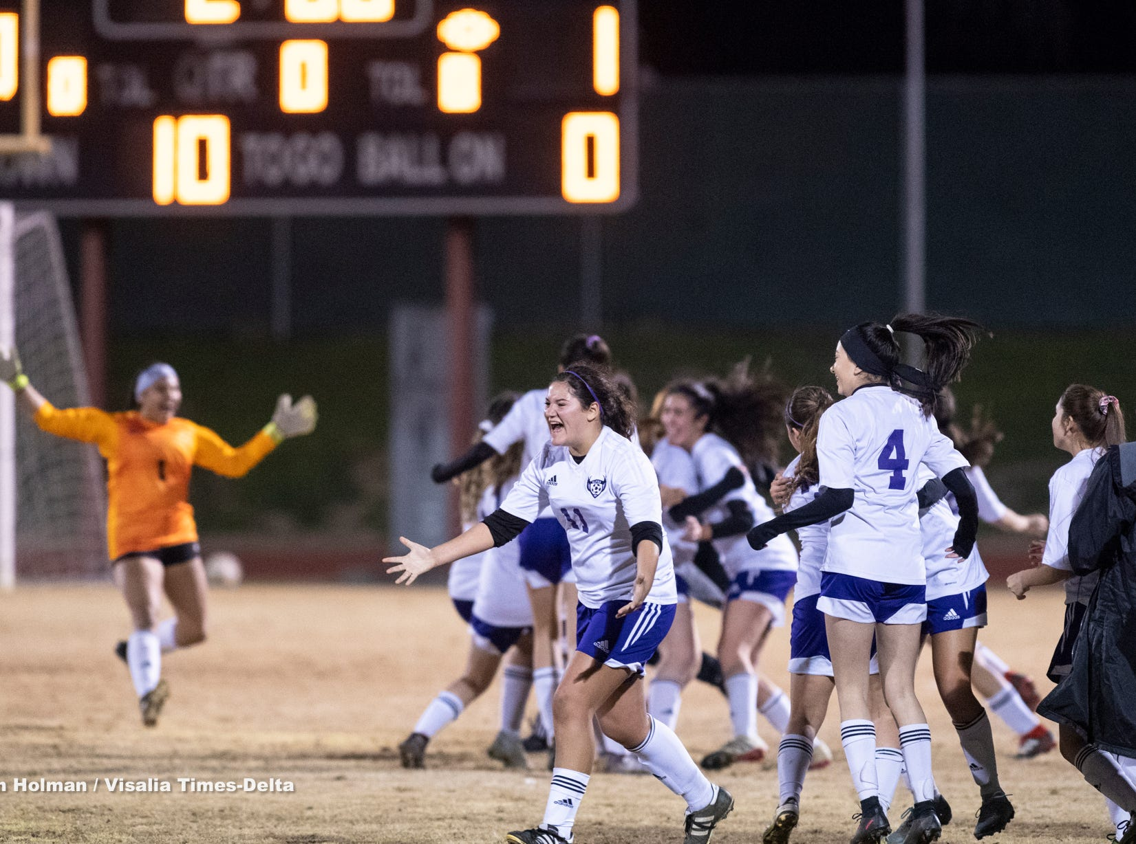 Golden West hosts Mission Oak Central Section Division III championship soccer game on Friday, February 22, 2019.