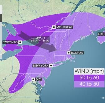Strong winds expected to hit the region Sunday night into Monday
