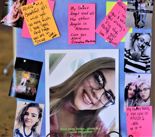 A shrine to the memory of Alivia Kailyn Gentile was on display during Saturday's event at the House of Grace Church. Gentle Giants of Ohio, which was founded in Gentile's memory, held the event.