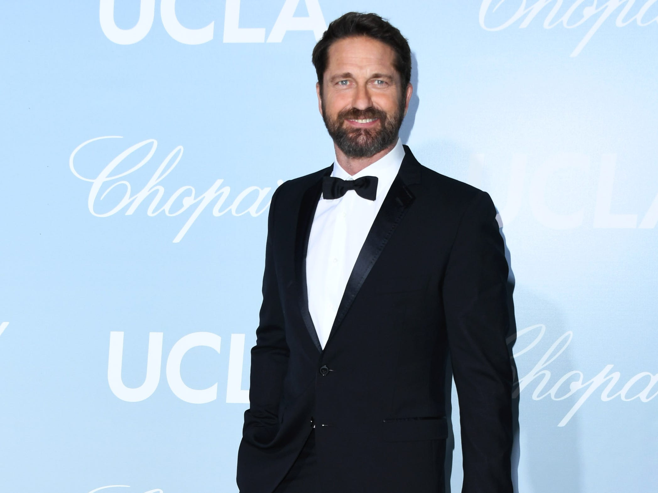 LOS ANGELES, CALIFORNIA - FEBRUARY 21:  Gerard Butler attends the 2019 Hollywood For Science Gala at Private Residence on February 21, 2019 in Los Angeles, California. (Photo by Jon Kopaloff/FilmMagic) ORG XMIT: 775284318 ORIG FILE ID: 1131311109