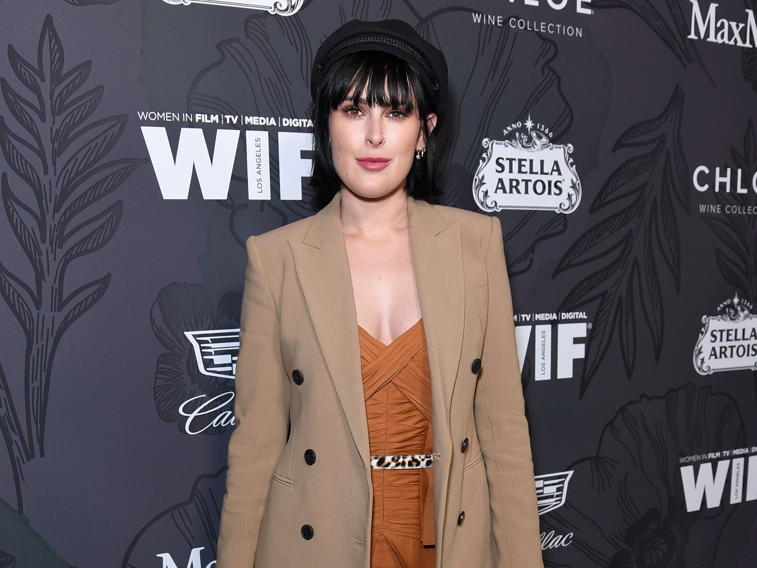 BEVERLY HILLS, CALIFORNIA - FEBRUARY 22: Rumer Willis attends the 12th Annual Women in Film Oscar Nominees Party Presented by Max Mara with additional support from Chloe Wine Collection, Stella Artois and Cadillac at Spring Place on February 22, 2019 in Los Angeles, California. (Photo by Presley Ann/Getty Images for Women In Film) ORG XMIT: 775291745 ORIG FILE ID: 1131514078