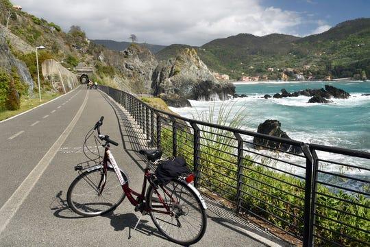 A bike ride between Levanto and the sleepy village of Bonassola offers up views of the Italian Riviera's stunning coastline.