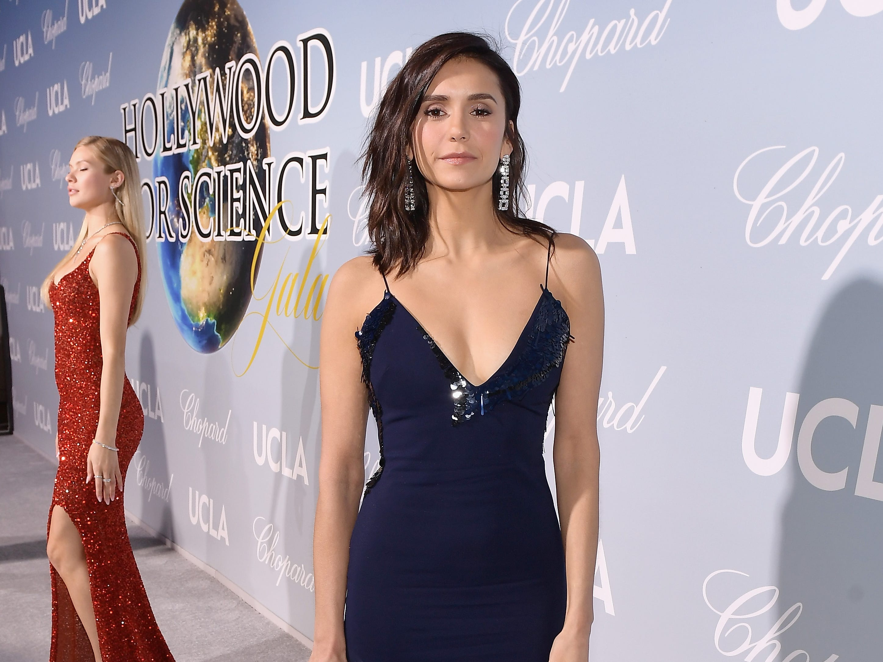 BEVERLY HILLS, CA - FEBRUARY 21:  Nina Dobrev attends the UCLA IoES honors Barbra Streisand and Gisele Bundchen at the 2019 Hollywood for Science Gala on February 21, 2019 in Beverly Hills, California.  (Photo by Matt Winkelmeyer/Getty Images for UCLA Institute of the Environment & Sustainability) ORG XMIT: 775301825 ORIG FILE ID: 1126649943