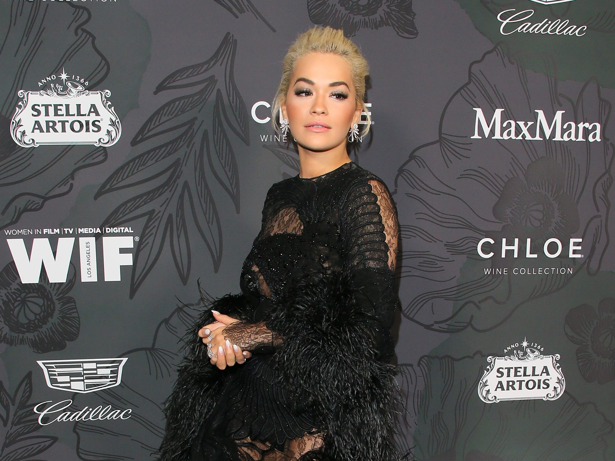 BEVERLY HILLS, CALIFORNIA - FEBRUARY 22: Rita Ora attends the 12th Annual Women In Film Oscar Party at Spring Place on February 22, 2019 in Beverly Hills, California. (Photo by JB Lacroix/WireImage) ORG XMIT: 775298179 ORIG FILE ID: 1126776005