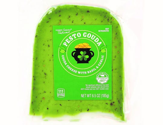Starting Feb. 27, Aldi will sell a Pesto Gouda cheese for a limited time.