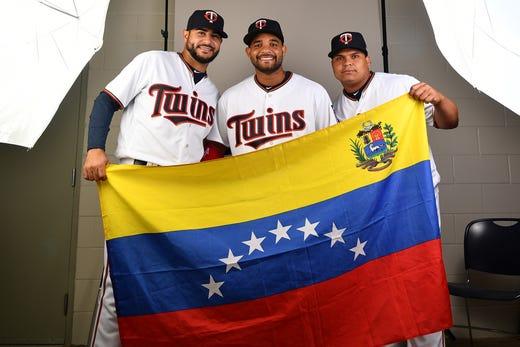 Martin Perez, Tomas Telis and Willians Astudillo, Twins