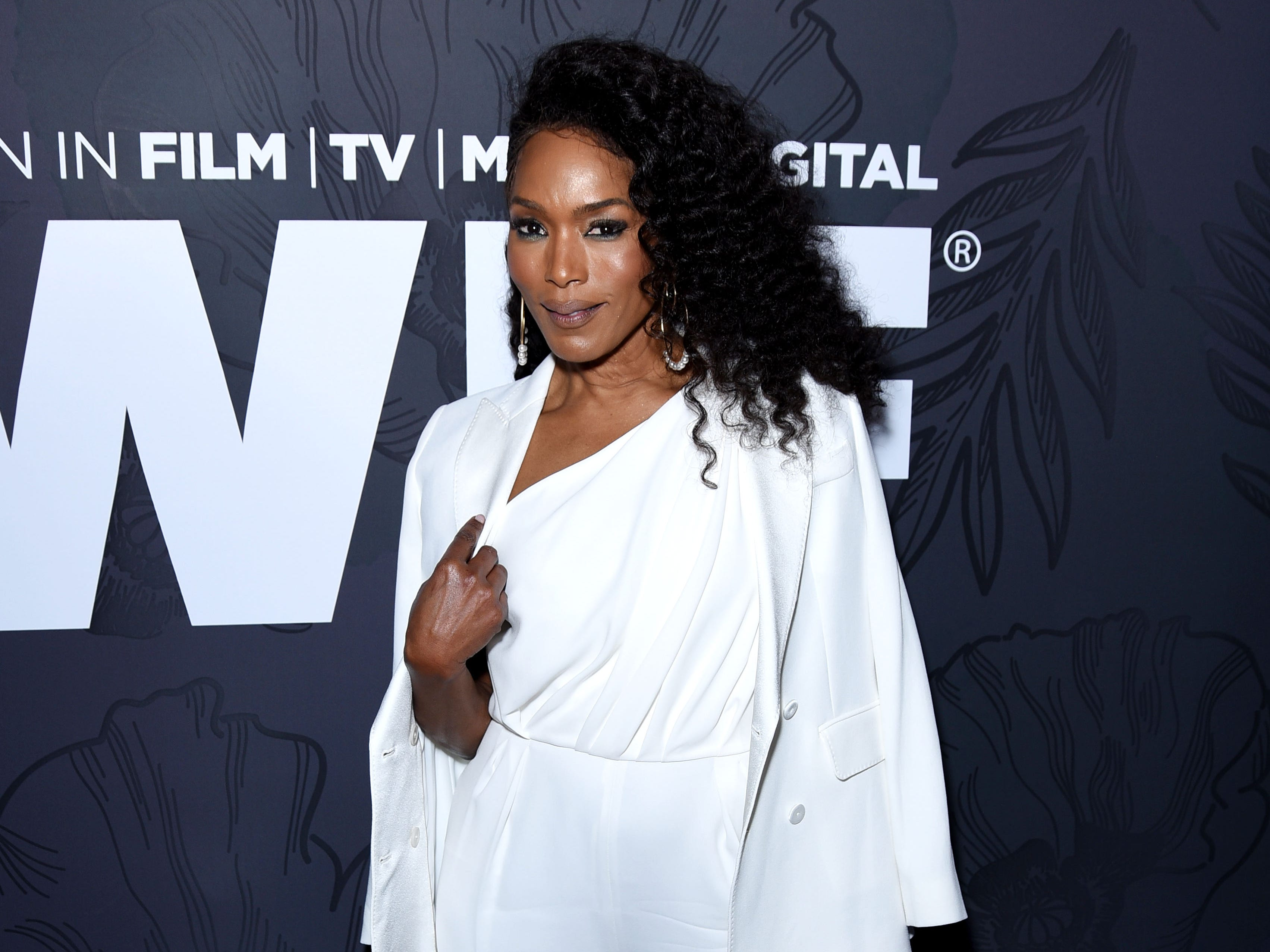 BEVERLY HILLS, CALIFORNIA - FEBRUARY 22: Angela Bassett, wearing Max Mara attends the 12th Annual Women in Film Oscar Nominees Party Presented by Max Mara with additional support from Chloe Wine Collection, Stella Artois and Cadillac at Spring Place on February 22, 2019 in Los Angeles, California. (Photo by Presley Ann/Getty Images for Women In Film) ORG XMIT: 775302553 ORIG FILE ID: 1131512388