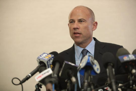 Attorney Michael Avenatti talks about sex-abuse charges against R. Kelly at press conference in Chicago on Feb. 22, 2019.