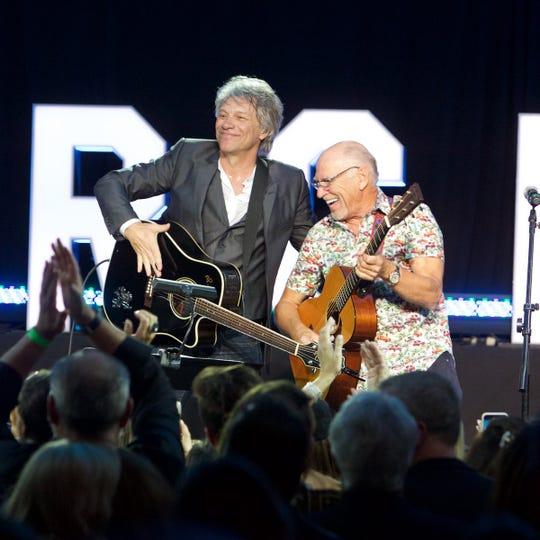 Jon Bon Jovi and Jimmy Buffett Feb. 16 at