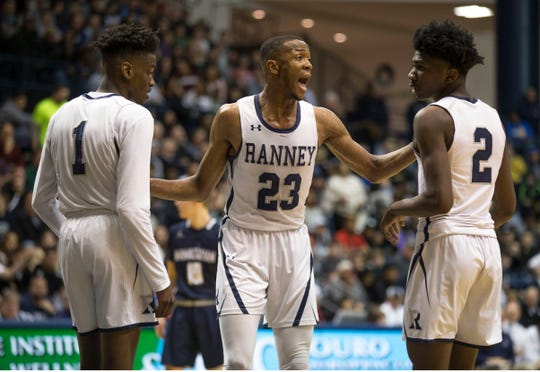Ranney School defeats Manasquan in the 2019 Shore Conference Tournament final held at Monmouth University. 