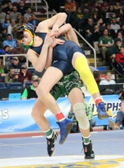 Tioga's Brady Worthing would head off this predicament on his way to a 132-pound state championship.