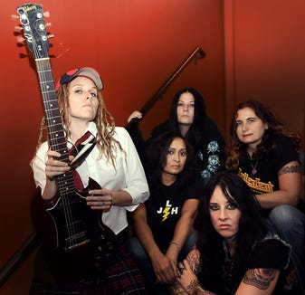 All-female AC/DC tribute band Hell's Belles play March 1 at the Manette, with James Hunnicutt opening.