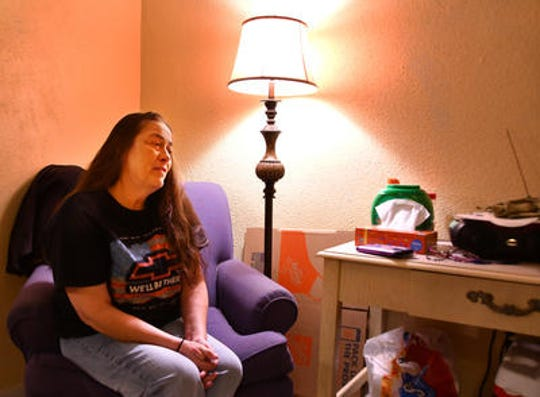 Earlier this year, Karla Griggs, an Army veteran, in her living room at the Volunteers of America transitional housing where she is living, talked about the dream of owning her own home. She is earning a Habitat for Humanity home that will be ready before the end of the year.