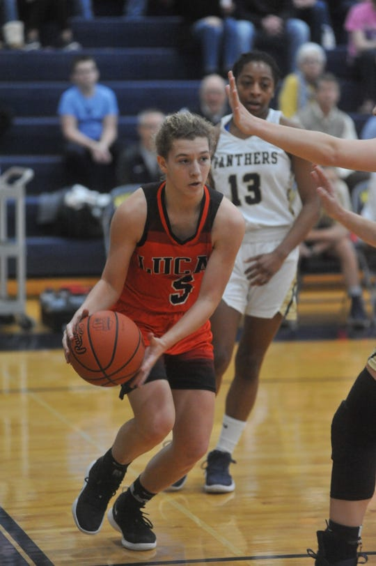 Lucas' Jamie Grover made three free throws to help the Lady Cubs defeat Loudonville last week.