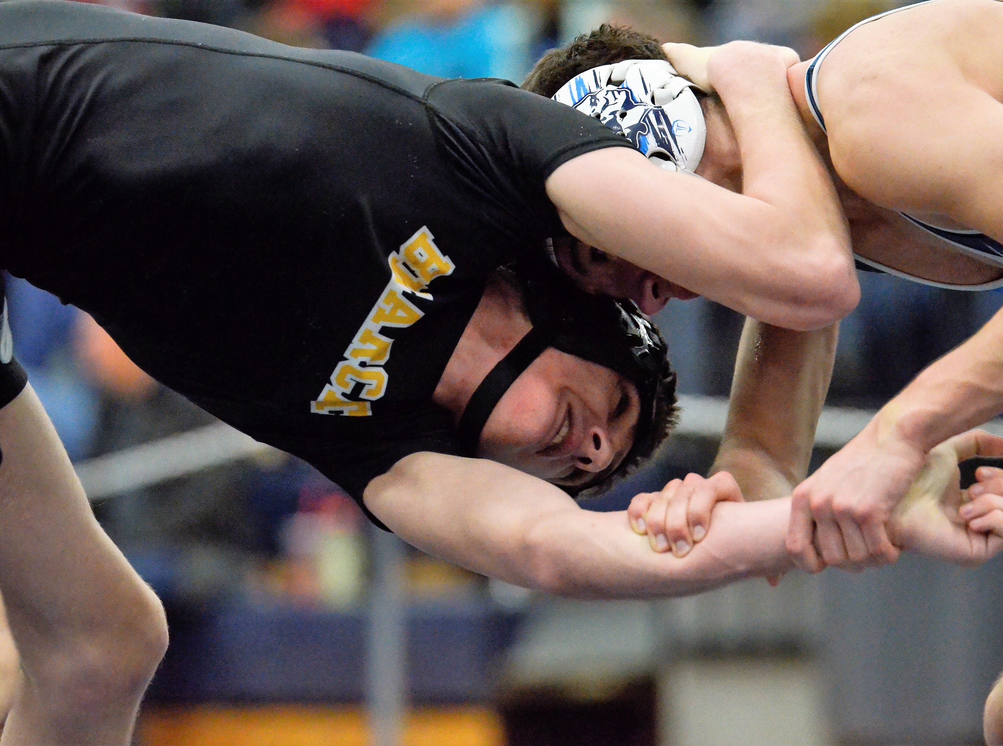 Adena, Huntington, Southeastern, and Paint Valley wrestlers competed in a Division III sectional tournament at Blanchester High School on Saturday, Feb. 23, 2019.