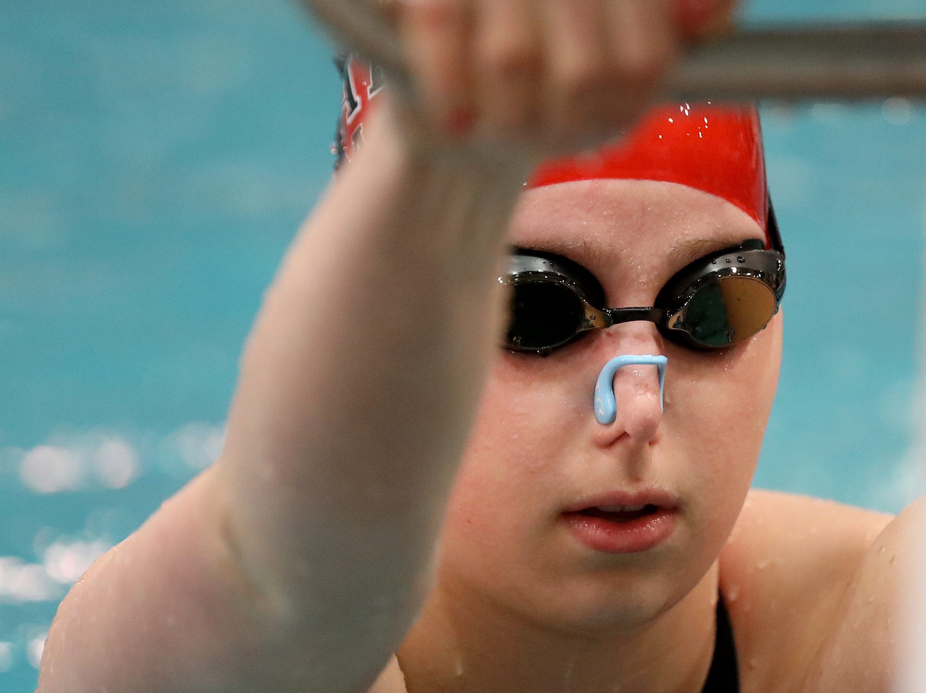 Kings swimmer Brynna Wolfe competes at the OHSAA state swimming and diving championships in Canton, Ohio, Friday, Feb. 23, 2019.