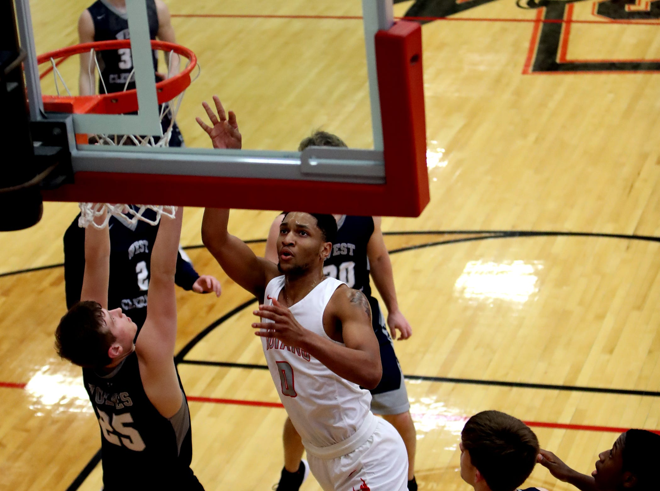 Fairfield guard Devin Turner scores from the paint. Turner led the Indians with 19 points.
