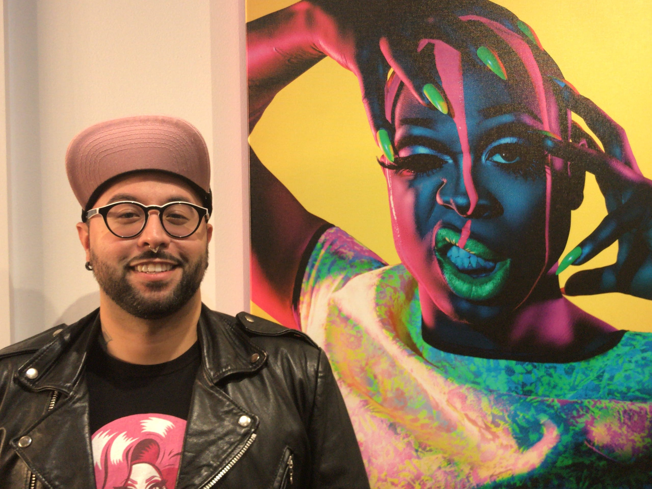 The work of artist David Ayllon is on display and for sale at Illustrated Beauty in downtown Somerville.