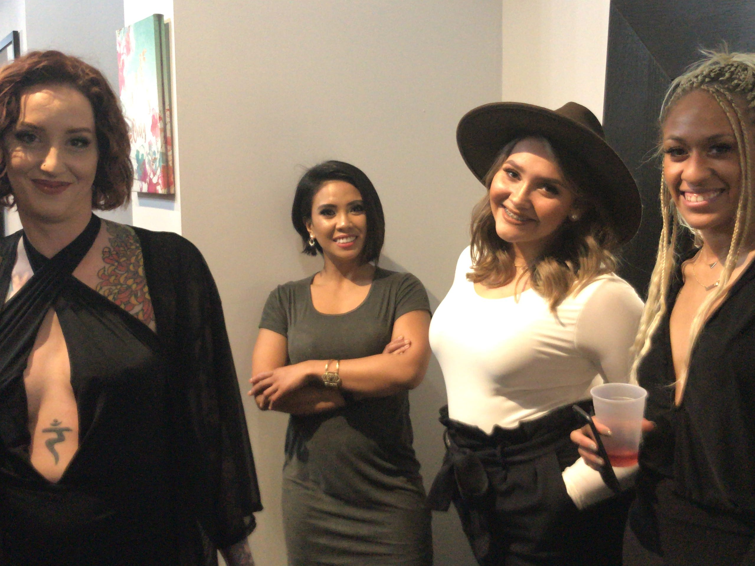 Stylists at Illustrated Beauty in Somerville include from left to right Amanda Fleming, Cielona Bocco, Hayley Terrell and Zhane Sweeney.