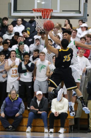 St. Joseph vs. Piscataway in the GMC Tournament boys basketball final on Friday, Feb. 22, 2019 at Middlesex County College.