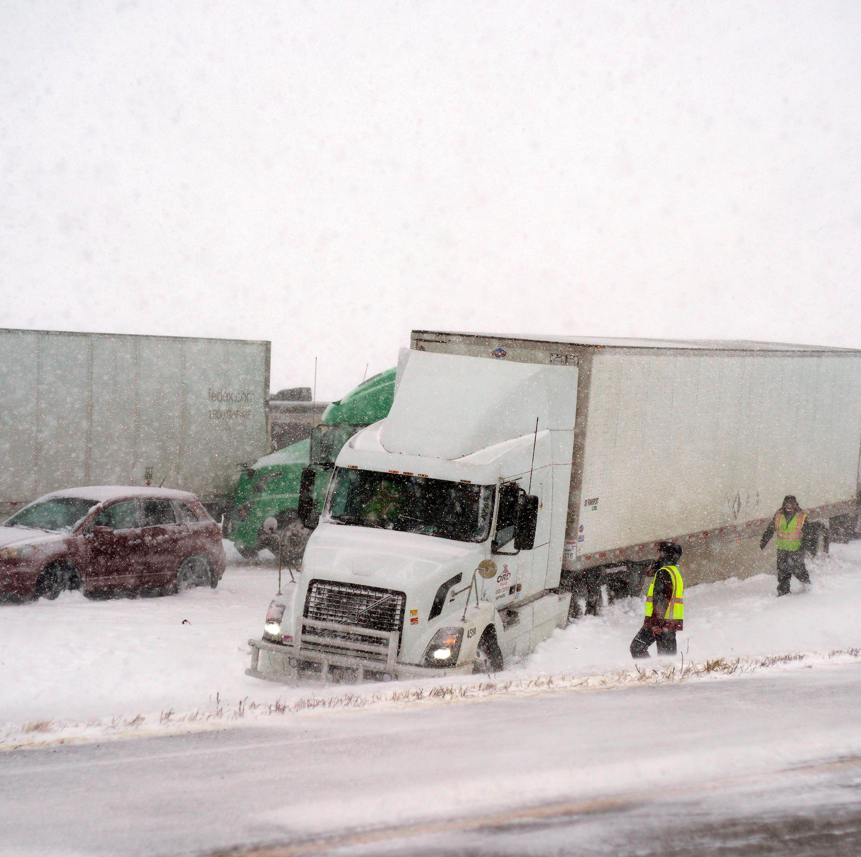 A blizzard heading toward Iowa prompted officials to close I-80 in Nebraska