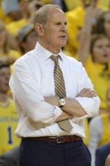Michigan head coach John Beilein watches from the sidelines during the first half on Sunday, February 24, 2019 at the Crisler Center in Ann Arbor.