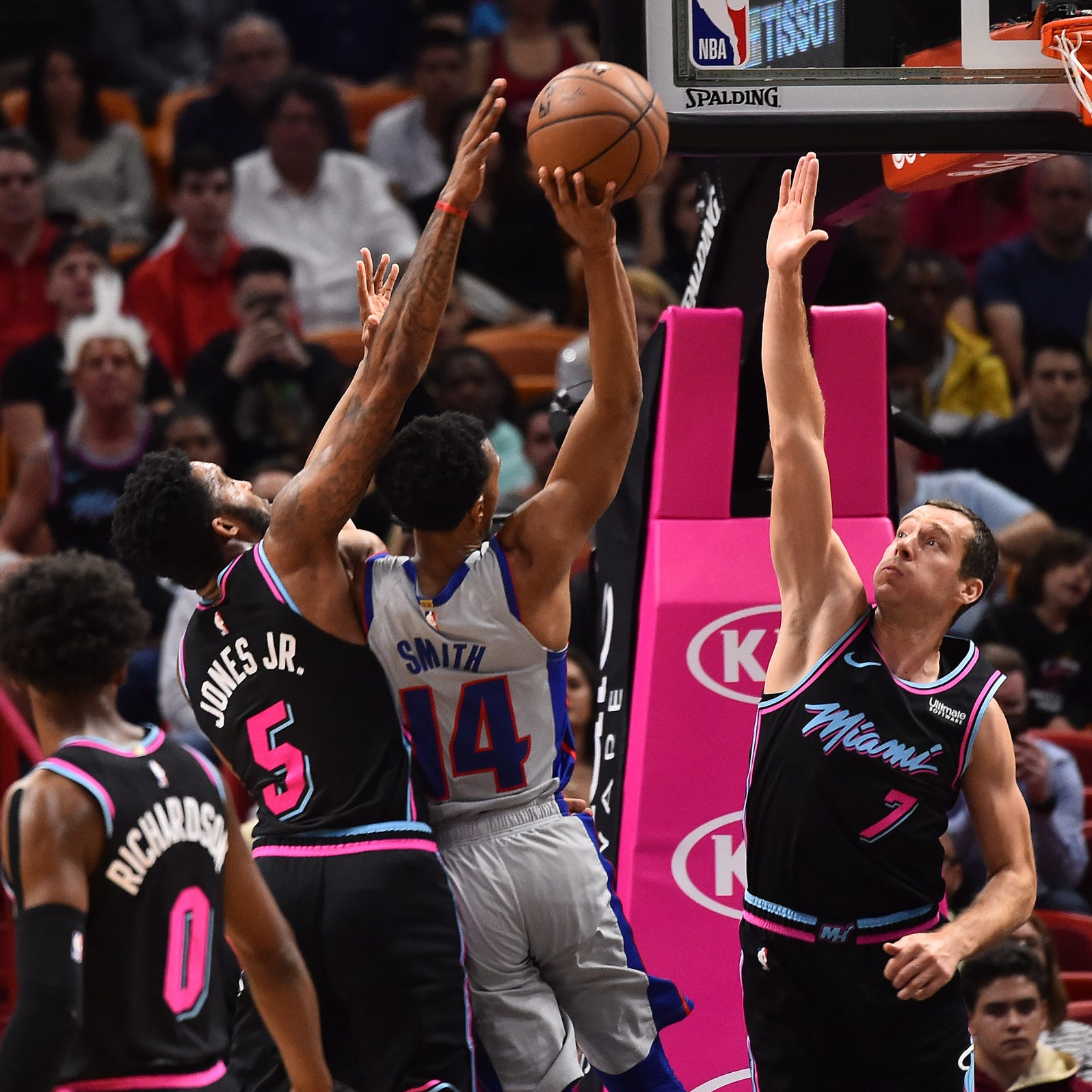 Bench provides boost as Detroit Pistons clobber Miami Heat, 119-96