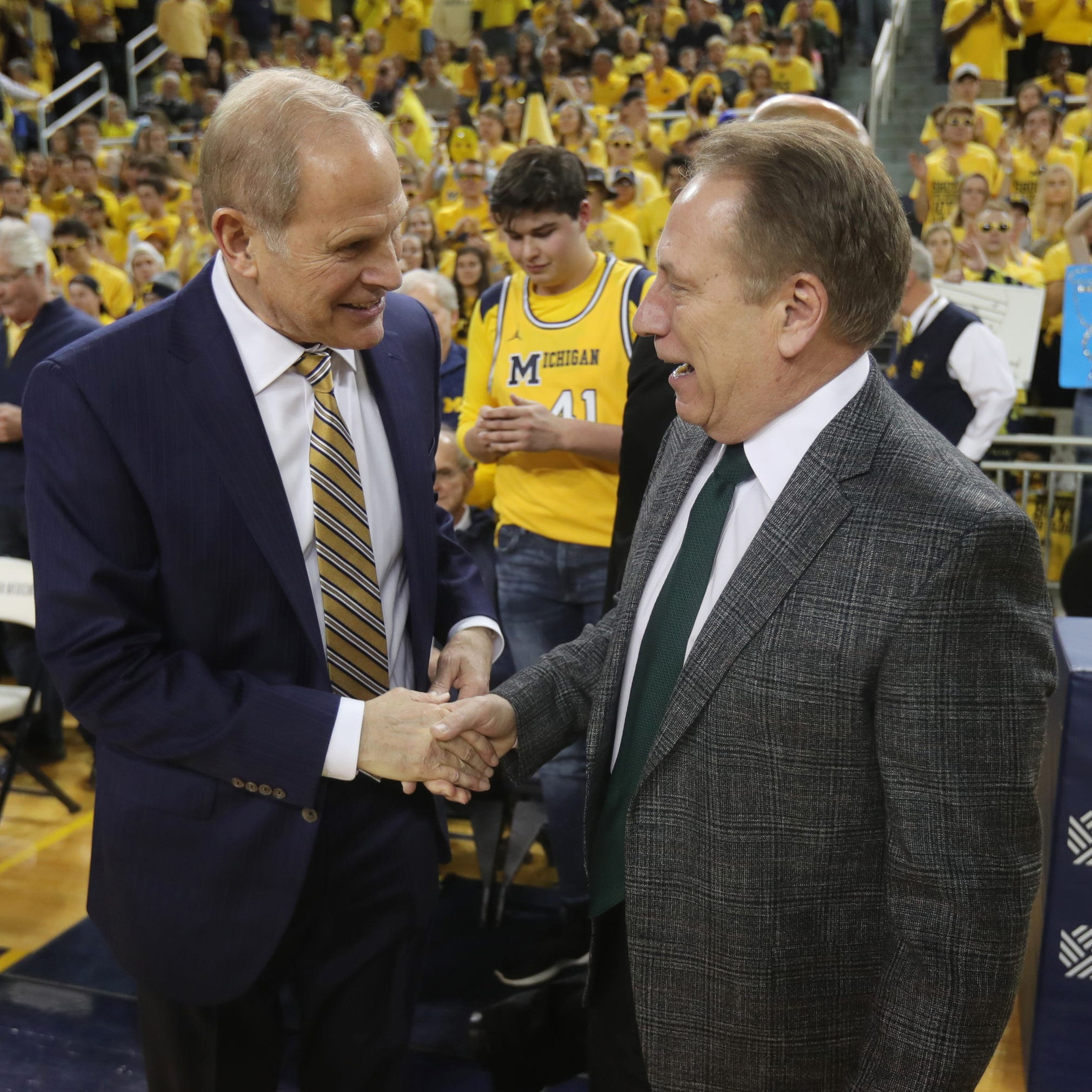 Dear Minnesota: Thank you so much! Signed, Michigan and MSU basketball
