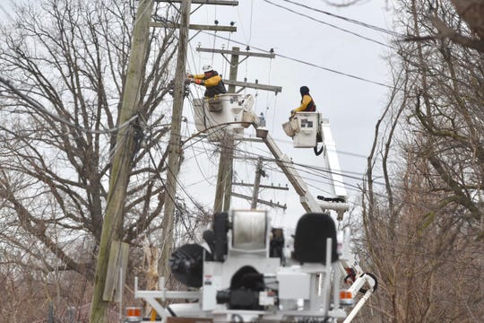 Utility crews are getting ready for strong wind and possible power outages late Saturday.
