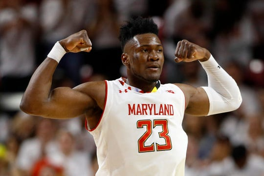 Bruno Fernando posted impressive numbers: 13.6 points, 10.6 rebounds and 1.9 blocks in his sophomore season at Maryland.