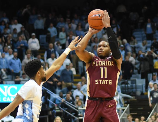 David Nichols was one of the lone bright spots for Florida State, as the senior point guard accounted for 16 points on the day.