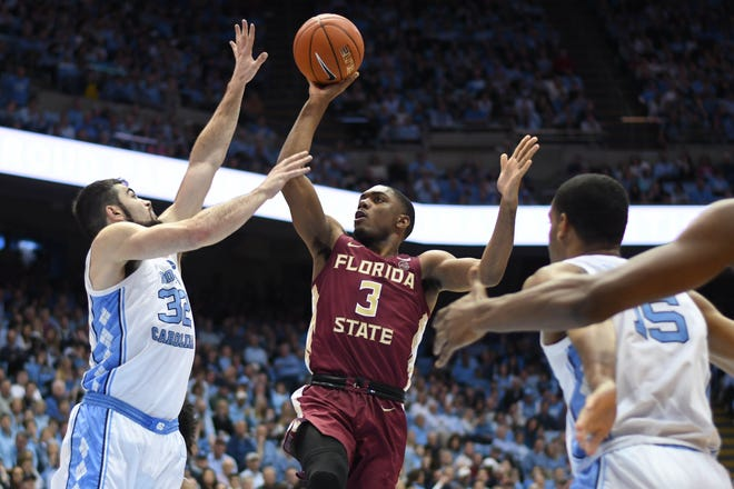 Despite Saturday's tough loss, Florida State and junior point guard Trent Forrest (3) will attempt to refocus with four games left in the regular season.