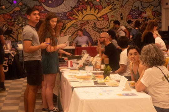 The Bark, a vegetarian/vegan restaurant, often hosts local creatives and artists for a variety of events.