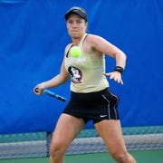 Florida State junior Carla Touly has compiled an 11-8 record in singles play this season.