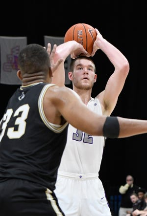 Furman's Matt Rafferty had 17 points, 10 rebounds, five assists and three blocks in the Paladins' semifinal loss to UNC Greensboro in the Southern Conference men's tournament semifinals.