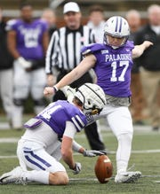 Furman kicker Grayson Atkins (17) tied a program record with a 55-yard field goal against WCU.