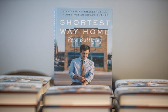 """Presidential candidate and former South Bend Mayor, and now author, Pete Buttigieg, brings his """"Shortest Way Home"""" book tour to Hine Hall on IUPUI campus, Sunday, Feb. 24, 2019."""