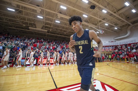 FILE – IU recruit Armaan Franklin had a huge final home game for Cathedral.