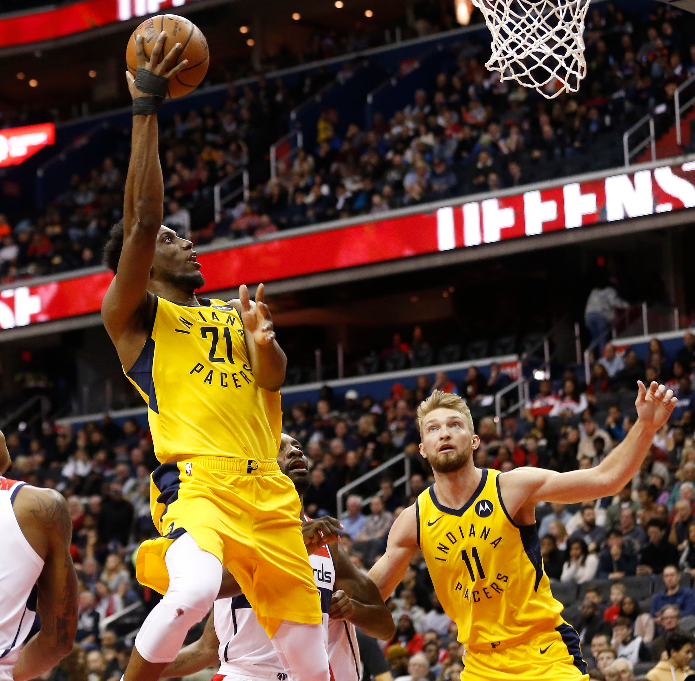 Thad Young gives his all as Pacers hold off comeback bid from Wizards to move to 40 wins