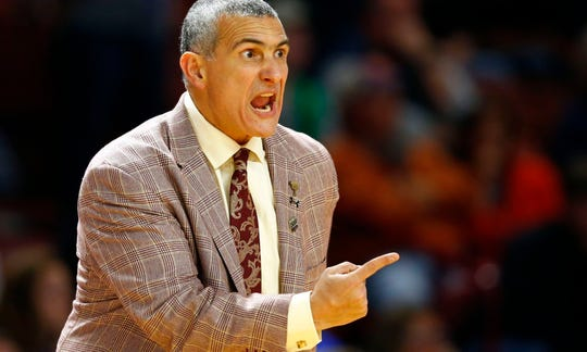 South Carolina head coach Frank Martin had high praise for Mississippi State after the Bulldogs beat the Gamecocks in Starkville on Saturday. Mandatory Credit: Jeremy Brevard-USA TODAY Sports