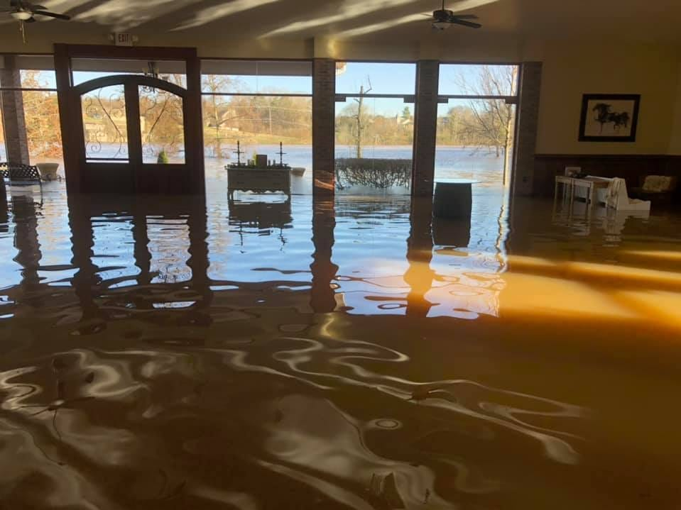 The Pavilion at  Hunter Valley Farm, a wedding an event venue in Knoxville, sustained heavy flood damage over the weekend. Owner Nancy Barger said there is between 12 and 18 inches of water inside the building, with damage to the main dock and facilities.